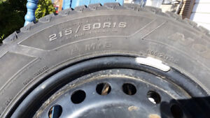 215/60R16 Goodyear Nordic Winter Tires w/ Rims (Reduced Price)