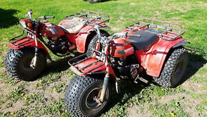 2 Honda Big Red 3Wheelers for $1300