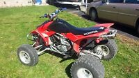 For trade 05 honda race quad 480 insane fast