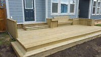Professional deck, patio, and fence builders in Calgary and area