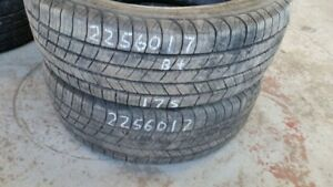Pair of 2 Michelin Defender 225/60R17 tires (75% tread life)