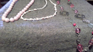 necklaces. costume jewelry.  $3/set or 2 sets for $5.
