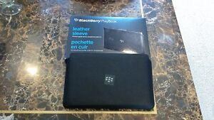 """*** Blackberry Playbook 7"""" Quality Leather Sleeve Case (New) **"""