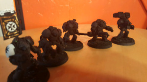Warhammer 40K black Templar Space Marine terminators