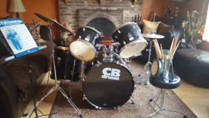 CB Drum Set Complete along with chair & brushes.