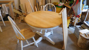 Birch Dining table and two chairs