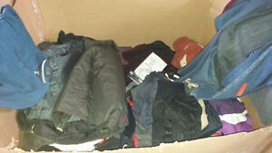 liquidation sale socks, hats, bras, jackets, jeans, shirts