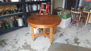 Solid oak hard wood antique table