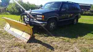 1999 GMC Yukon with plow for sale or trade for 4 wheeler or SbS