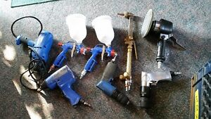 4 air tools and 1 torch