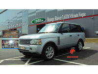 2007 LAND ROVER RANGE ROVER 3.6TD V8 AUTO VOGUE SILVER DIESEL 4X4