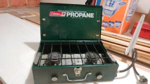 Older Coleman propane camp cooktop