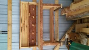 Hand Crafted Coat Rack and Boot Bench.