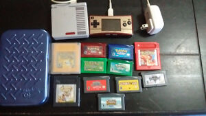 Gameboy micro and GBA with games