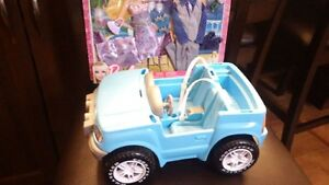 Barbie Jeep and Clothes