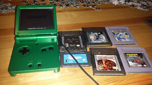 Gameboy advance sp & 6 games