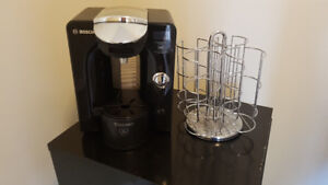 Tassimo coffee maker and t-disk rack