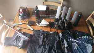 Paintball setup (sold separately or as a package)