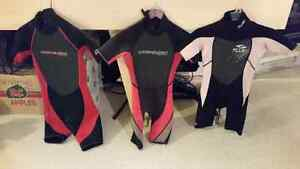 YOUTH SHORTY WETSUITS.