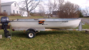 14' aluminum​ boat and trailer