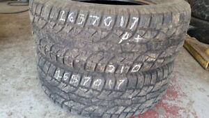 Pair of 2 Wild Country Radial XTX Sport 265/70R17 tires (85% tre