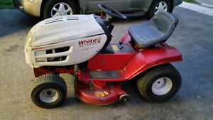 White Riding Lawnmower