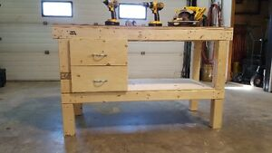 New Work Bench $160 (Optional 2 Drawer cabinet$90) For both $250