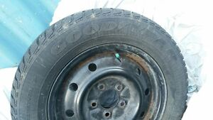 USED 205/65R15 Snow Tires - Rims included London Ontario image 2