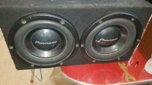 Pioneer car amp and subs