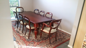 8 seat dining table and chairs