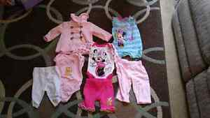 Girls Baby Clothes 3-6 month. 23 pieces of clothing total.