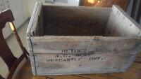 Antique wooden crates