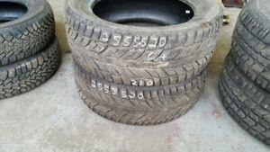 Pair of 2 Cooper Weather Master WSC 255/55R20 WINTER tires (65%