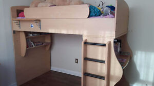 Loft Bed w/ Desk and Double Bed Option.