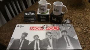 Lot d'items de collection des Beatles
