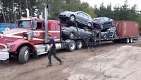 Hauling cars and trucks from Cape Breton to Alberta and back