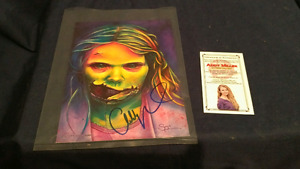 Signed photo of Addy Miller from walking dead