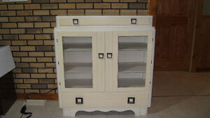 Painted birch china cabinet for sale