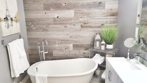 15% OFF WOOD FEATURE WALLS, Reclaimed Wood Panelling- DIY Ready!