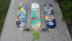Three Skateboards Package Deal
