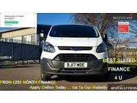 2017 Ford Transit Custom 2.0 290 L1 H1 PANEL VAN, 1 OWNER, FSH , 54K, EU 6 , 6 M