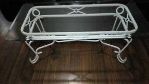 White Glass Coffee Table For Sale