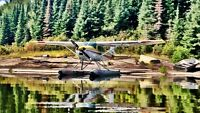 1967 Cessna 180 floatplane float plane with wheels