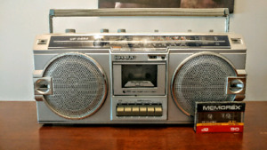 Cool 80s Retro Boombox by Sharp