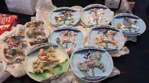 Carousel music box plates
