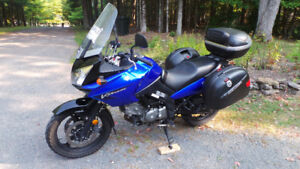 Suzuki Vstrom 650 Adventure bike with all equipment