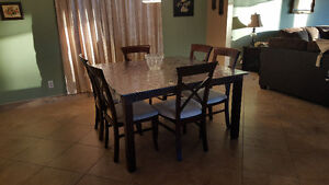 Cherry wood dining set with 6 chairs Windsor Region Ontario image 3