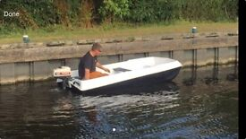 10ft dory hull day/fishing boat with 4.5hp TOMOS outboard