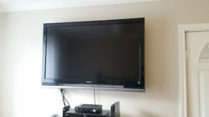 "Sony Bravia ""52 TV and wall mount. In excellent condition."
