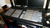 Tascam FW1884 + 2 FE-8 expanders.  24 channels automated